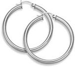 white gold hoop earrings