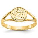 14K Gold Renaissance Angel Ring