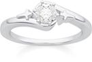 Christian Cross Diamond Solitaire Engagement Ring