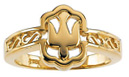 Holy Spirit Dove Ring for Women, 10K Gold