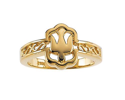 Holy Spirit Dove Ring for Women, 10K Gold