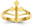 Passion Cross Ring, 14K Gold