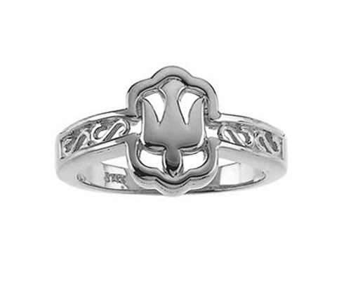 Women's Holy Spirit Dove Ring in 14k White Gold