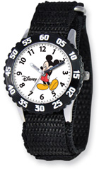 Mickey Mouse Watch, Black Velcro