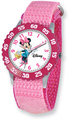 Minnie Mouse Watch for Kids, Pink Velcro