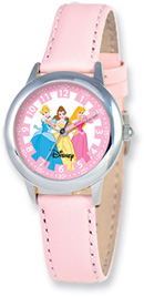 Disney Princess Watch, Pink Leather
