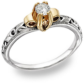 Buy Setting Only for Art Deco Diamond Ring in 1/2 Carat Size