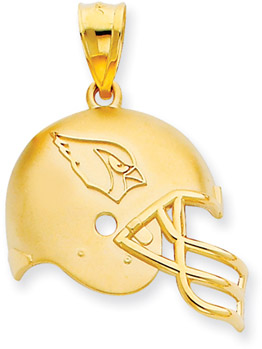 NFL Arizona Cardinals Helmet Pendant, 14K Yellow Gold (Apples of Gold)