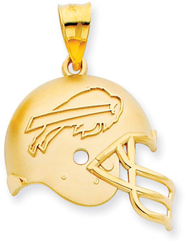 Buy NFL Buffalo Bills Helmet Pendant, 14K Yellow Gold