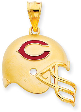 Buy NFL Chicago Bears Helmet Pendant with Enamel, 14K Yellow Gold