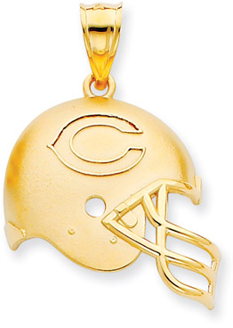 Buy NFL Chicago Bears Helmet Pendant, 14K Yellow Gold