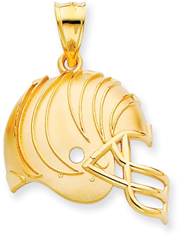 Buy NFL Cincinnatti Bengals Helmet Pendant, 14K Yellow Gold