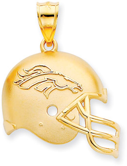 Buy NFL Denver Broncos Helmet Pendant, 14K Yellow Gold