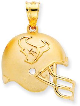 Buy NFL Houston Texans Helmet Pendant, 14K Yellow Gold