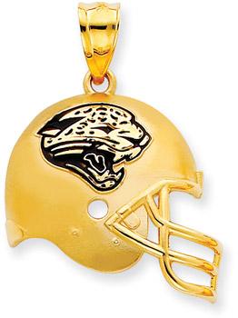 Buy NFL Jacksonville Jaguars Helmet Pendant with Enamel, 14K Yellow Gold