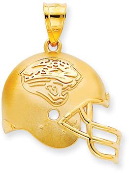 Buy NFL Jacksonville Jaguars Helmet Pendant, 14K Yellow Gold