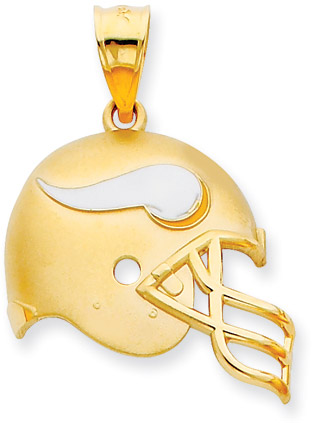 Buy NFL Minnesota Vikings Helmet Pendant, 14K Yellow Gold