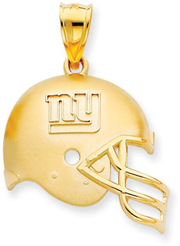 Buy NFL New York Giants Helmet Pendant, 14K Yellow Gold