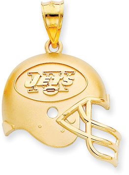 Buy NFL New York Jets Helmet Pendant, 14K Yellow Gold