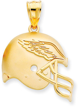 Buy NFL Philadelphia Eagles Helmet Pendant, 14K Yellow Gold