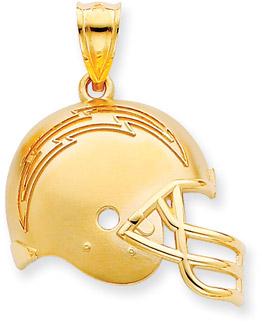Buy NFL San Diego Chargers Helmet Pendant, 14K Yellow Gold