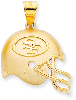 Buy NFL San Francisco 49ers Helmet Pendant, 14K Yellow Gold
