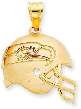 Buy NFL Seattle Seahawks Helmet Pendant, 14K Yellow Gold