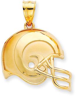 Buy NFL St. Louis Rams Helmet Pendant, 14K Yellow Gold
