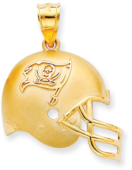 Buy NFL Tampa Bay Buccaneers Helmet Pendant, 14K Yellow Gold