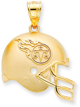 Buy NFL Tennessee Titans Helmet Pendant, 14K Yellow Gold