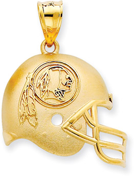 Buy NFL Washington Redskins Helmet Pendant, 14K Yellow Gold