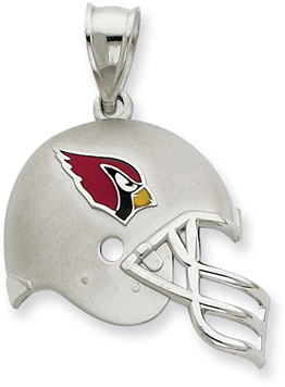 Buy Sterling Silver Arizona Cardinals NFL Helmet Pendant