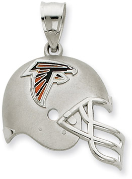 Buy Sterling Silver Atlanta Falcons NFL Helmet Pendant