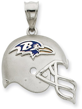 Buy Sterling Silver Baltimore Ravens NFL Helmet Pendant
