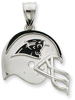 Sterling Silver Carolina Panthers NFL Helmet Pendant