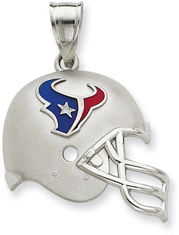 Buy Sterling Silver Houston Texans NFL Helmet Pendant
