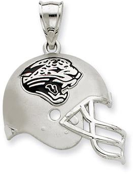 Sterling Silver Jacksonville Jaguars NFL Helmet Pendant (Apples of Gold)