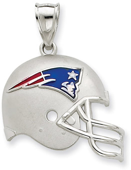 Buy Sterling Silver New England Patriots NFL Helmet Pendant