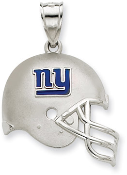 Buy Sterling Silver New York Giants NFL Helmet Pendant