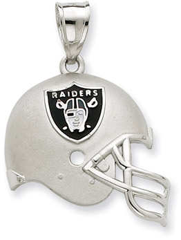 Sterling Silver Oakland Raiders NFL Helmet Pendant (Apples of Gold)