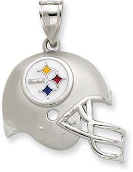 Buy Sterling Silver Pittsburgh Steelers NFL Helmet Pendant