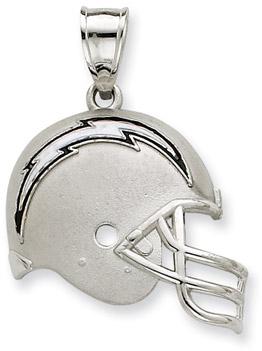 Buy Sterling Silver San Diego Chargers NFL Helmet Pendant