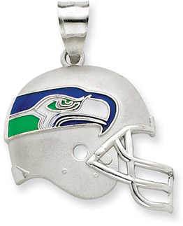 Buy Sterling Silver Seattle Seahawks NFL Helmet Pendant
