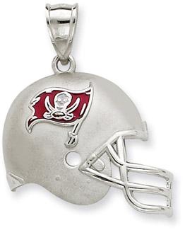 Sterling Silver Tampa Bay Buccaneers NFL Helmet Pendant