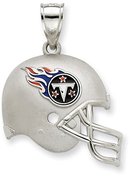 Sterling Silver Tennessee Titans NFL Helmet Pendant