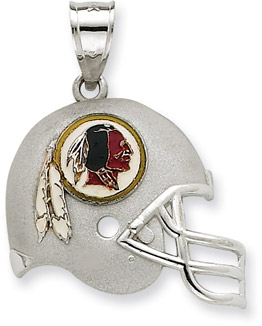 Buy Sterling Silver Washington Redskins NFL Helmet Pendant