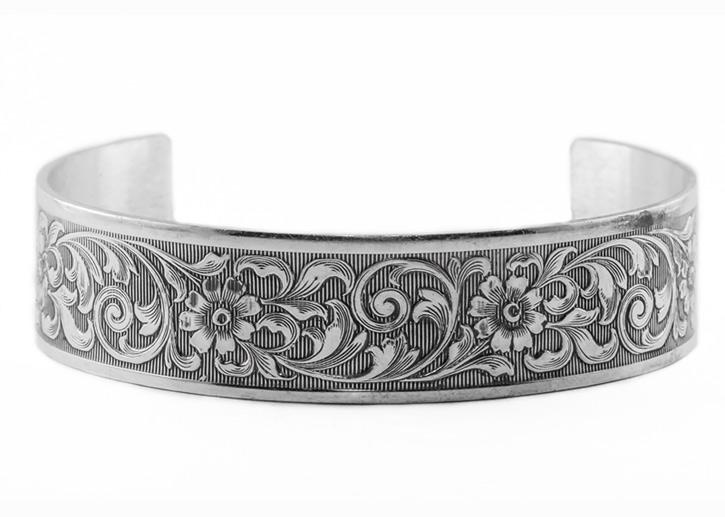 Victorian Era Cuff Bangle Bracelet Silver