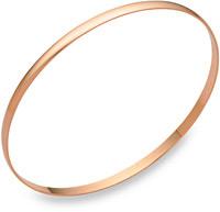 14K Rose Gold Bangle Bracelet in 2mm