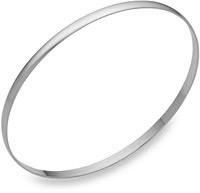 14K White Gold Bangle Bracelet, 2mm