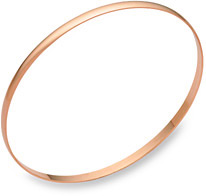 3mm 14K Rose Gold Bangle Bracelet